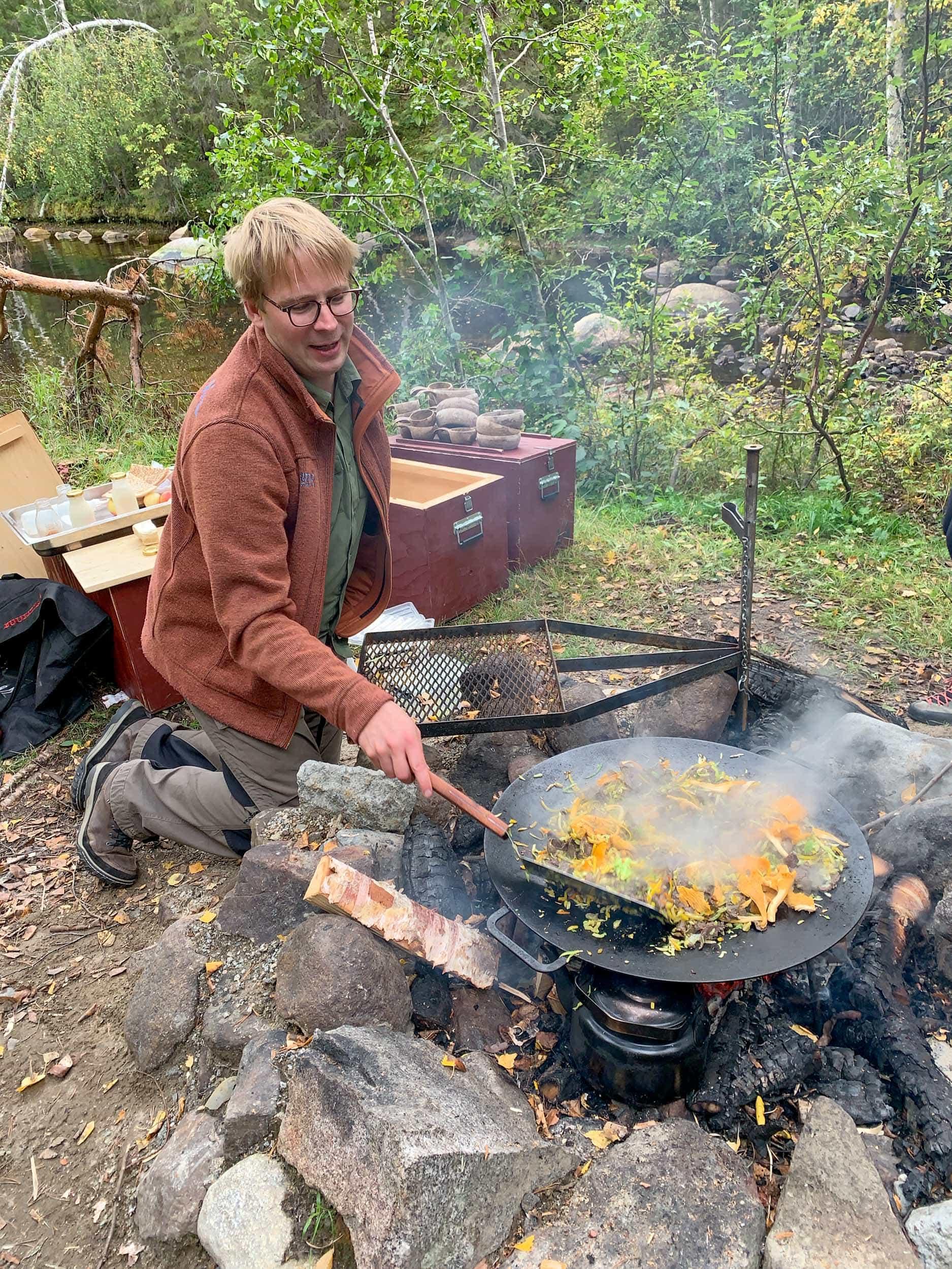 Cooking up a moose stir fry