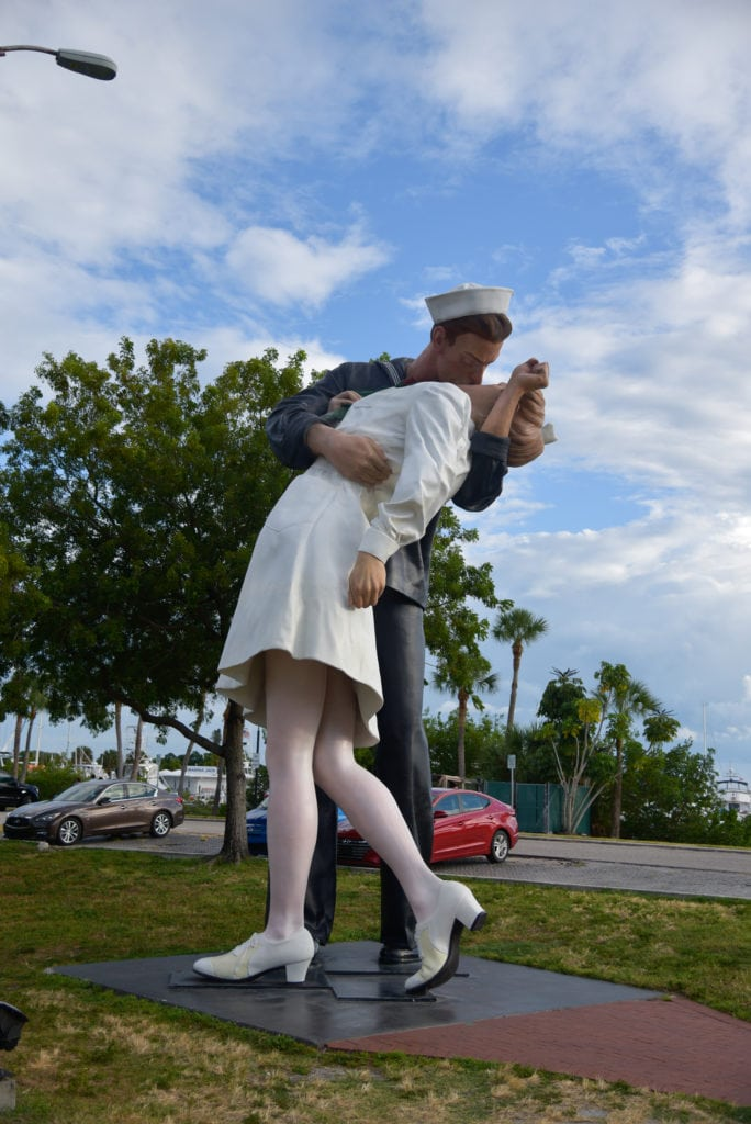 The Unconditional Surrender Statue is a symbol of the end of WW2