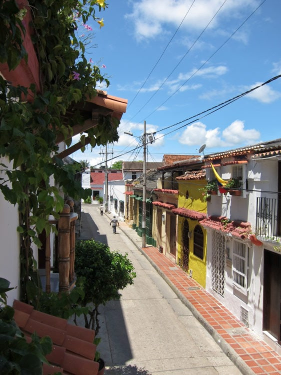 View from Villa Colonial in Getsemani neighborhood
