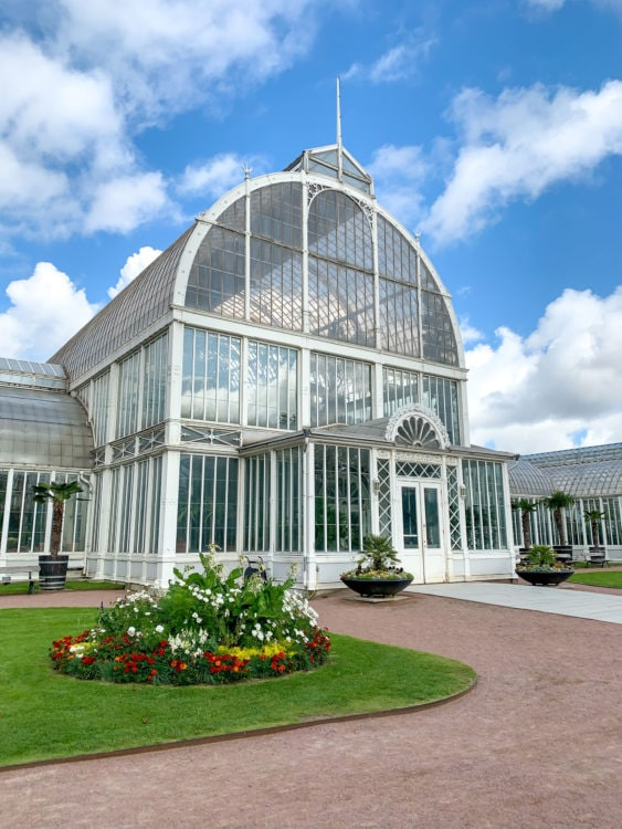 The Palm House (greenhouse) is free to enter