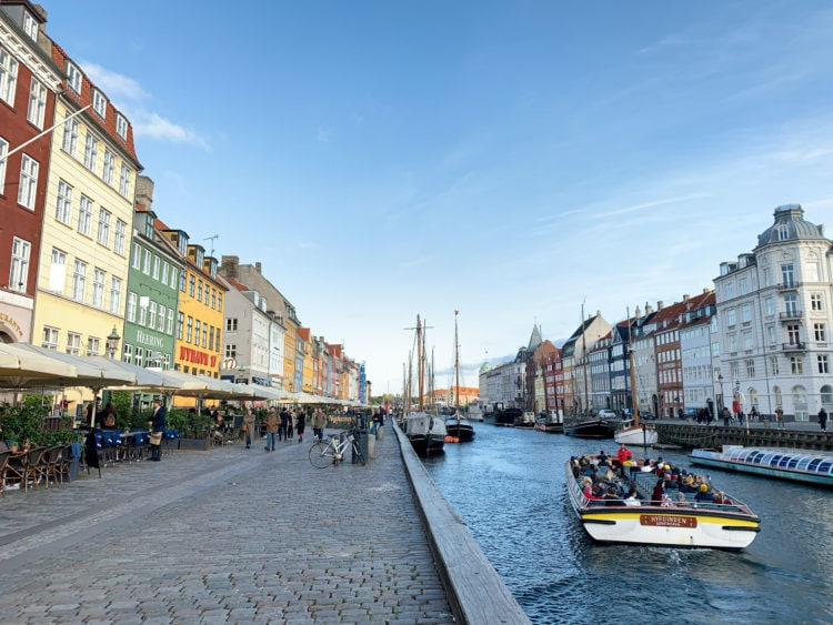 Canal tour boat in Nyhavn