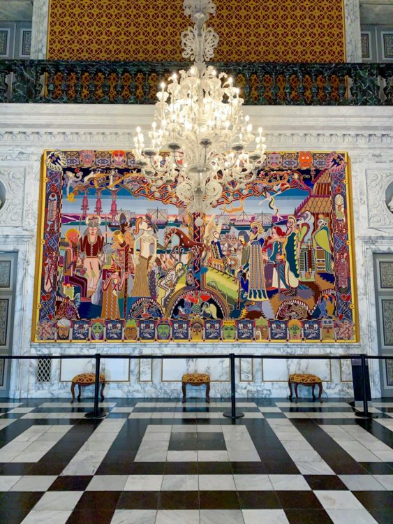 Tapestry in The Great Hall