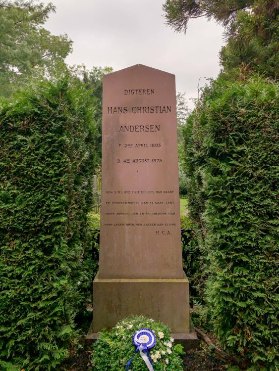 Hans Christian Andersen's grave