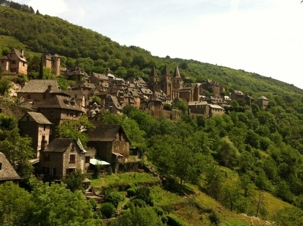 A town on the Camino de Santiago in northern Spain
