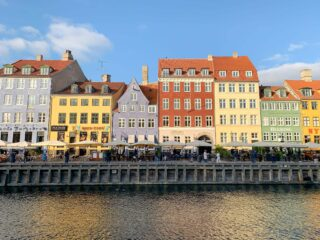 Nyhavn at sunset