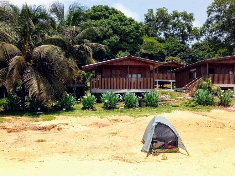 Beach camping in Robertsport Liberia