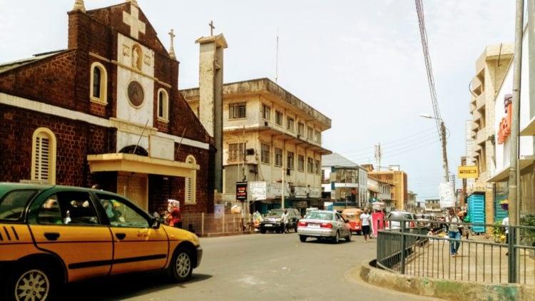 Street in Freetown, Sierra Leone