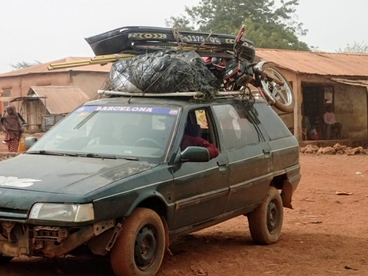Taking a bush taxi in Guinea will help you stick to a tight budget