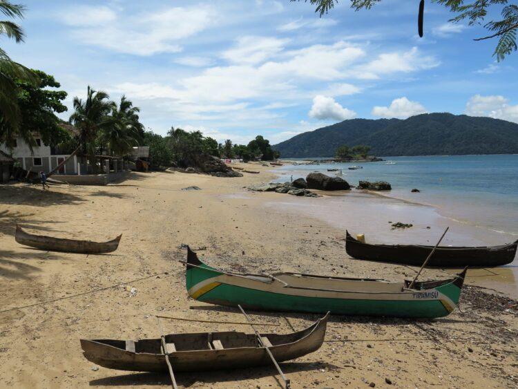 Canoes on Nosy Komba Island, Madagascar