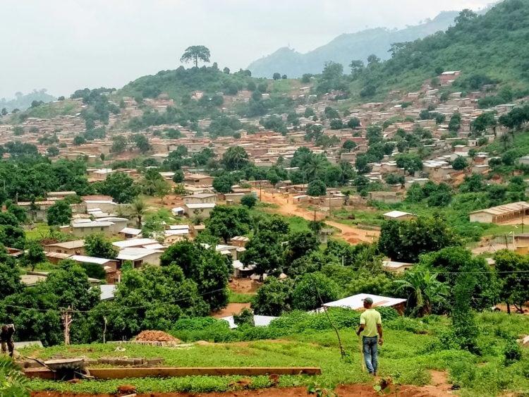 Town of Man in Côte d'Ivoire