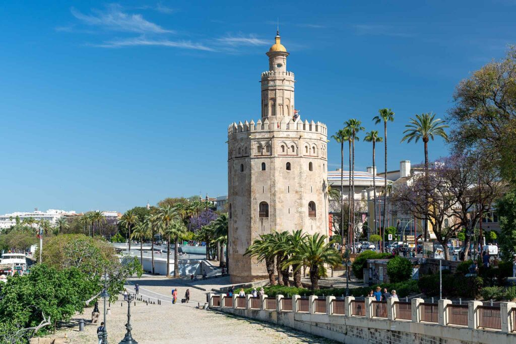 The Gold Tower in Seville, southern Spain
