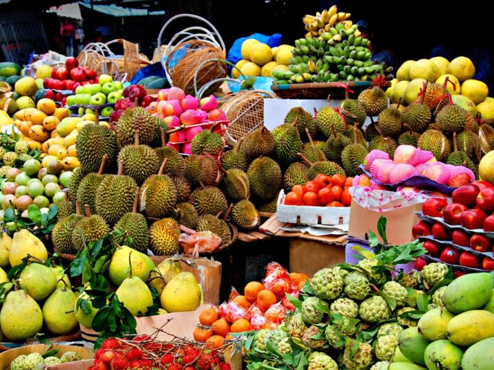 Durian is one of many delicious fruits and vegetables unique to Southeast Asia