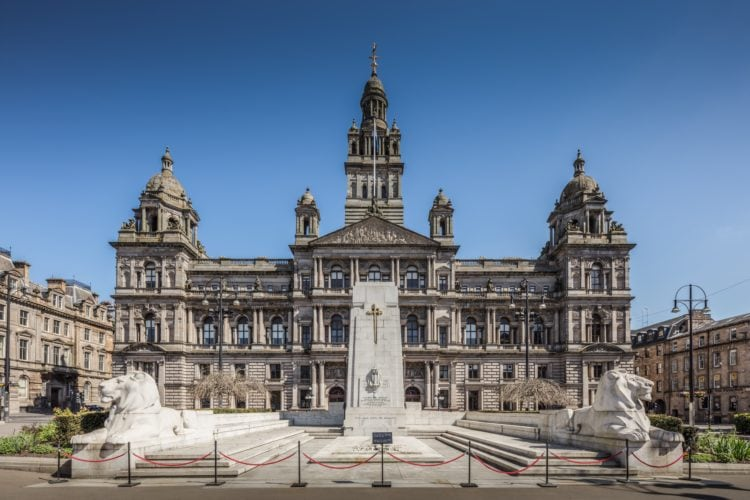 Glasgow City Chambers in George Square (photo: Michael D Beckwith, Pixabay)