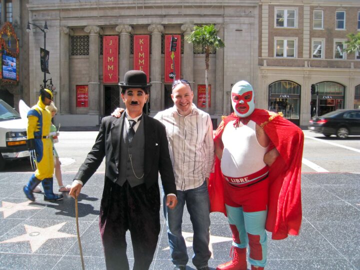 Goofing around with Charlie Chaplin and Nacho Libre