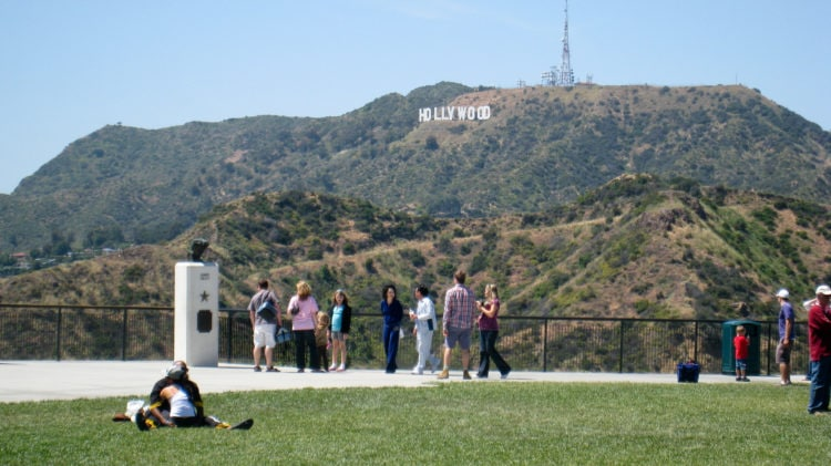 View of Hollywood sign from Griffith Observatory