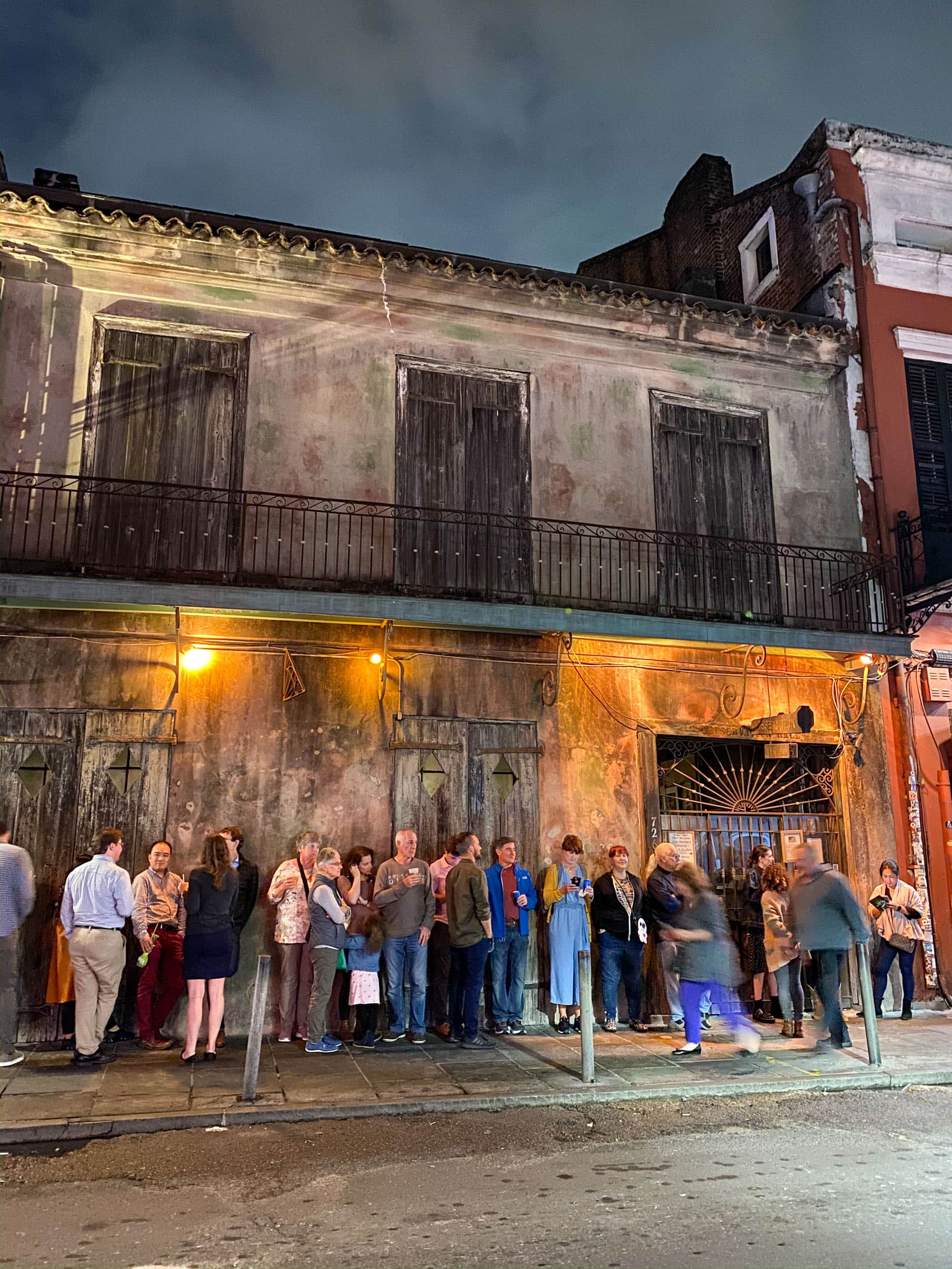The line outside Preservation Hall, one of the best jazz clubs in New Orleans