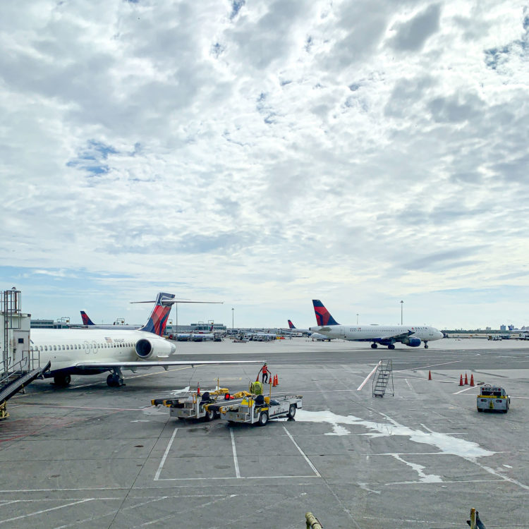 Delta planes at JFK airport in New York City