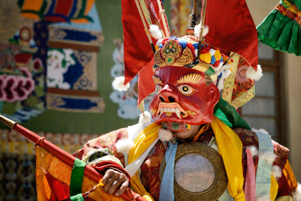 Mask dance during the Naropa Festival at Hemis monastery