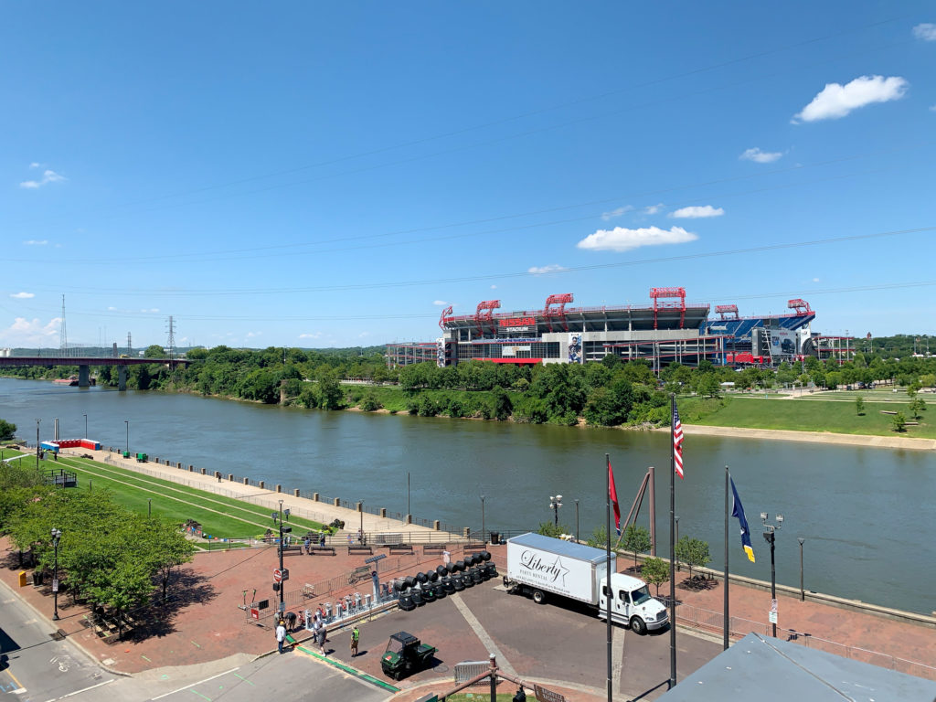 The riverfront in downtown Nashville, TN