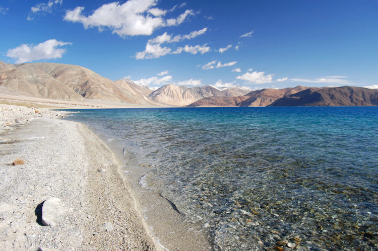 Pangong Lake (4,350 m) is worthy of inclusion in any Ladakh travel guide