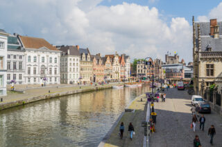View of Lys River in Ghent (photo: KimberleyJane)