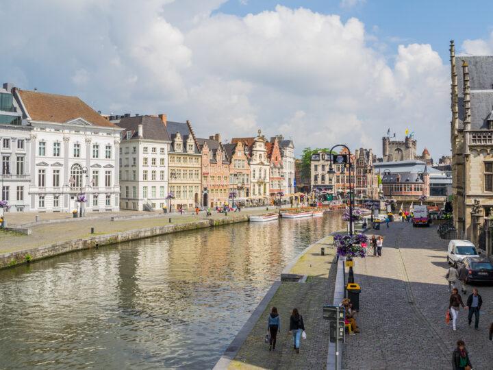 View of Lys River in Ghent (photo: KimberleyJane)