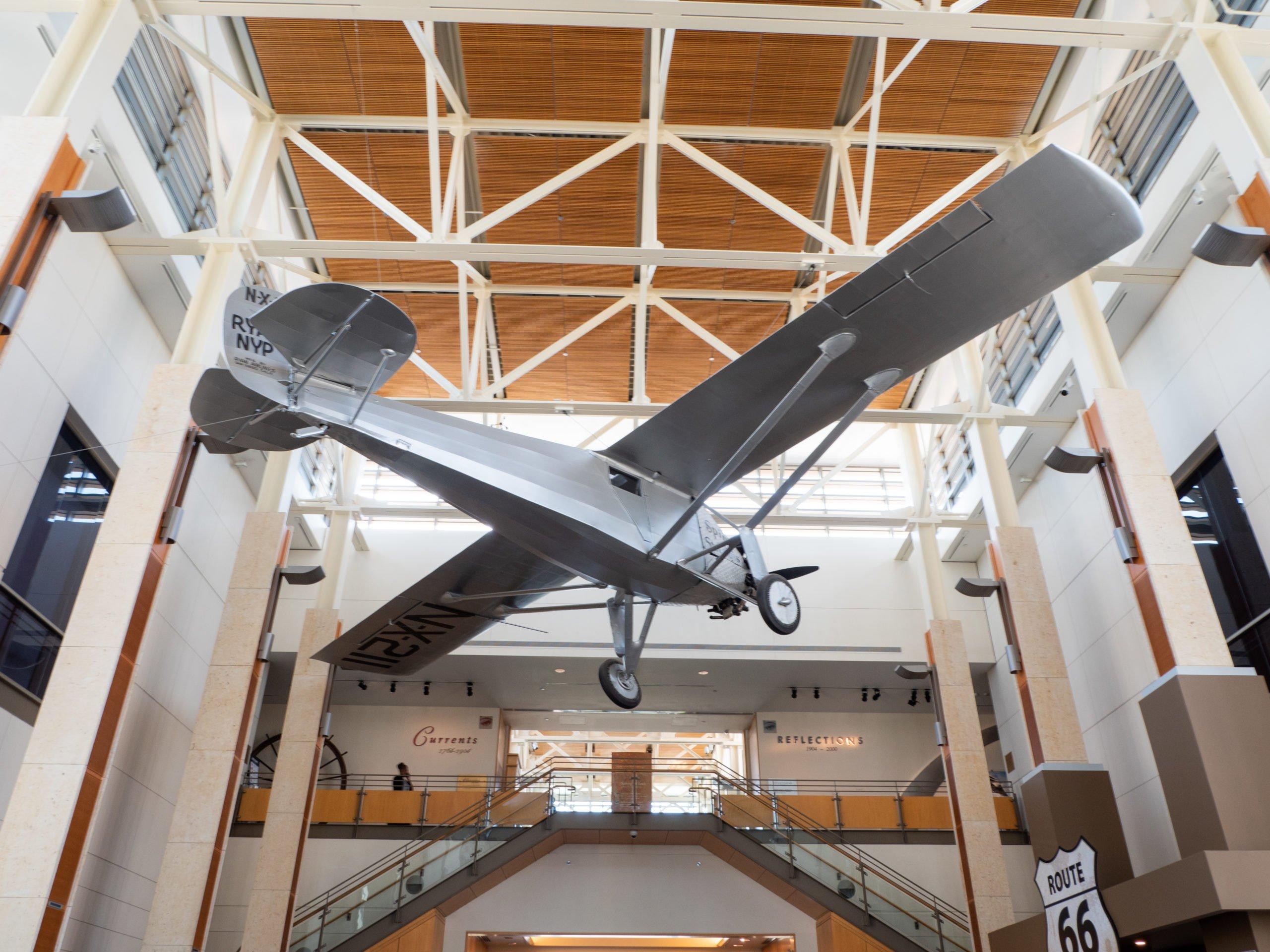 Spirit of St. Louis airplane at Missouri History Museum (photo: Jonathan Cutrer)