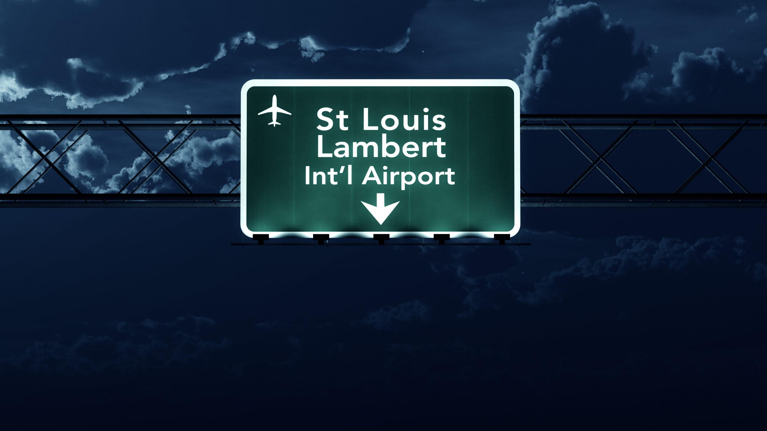 St Louis Lambert Airport sign