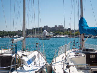 Yachts in Rhodes, Greece (photo: David Lee)