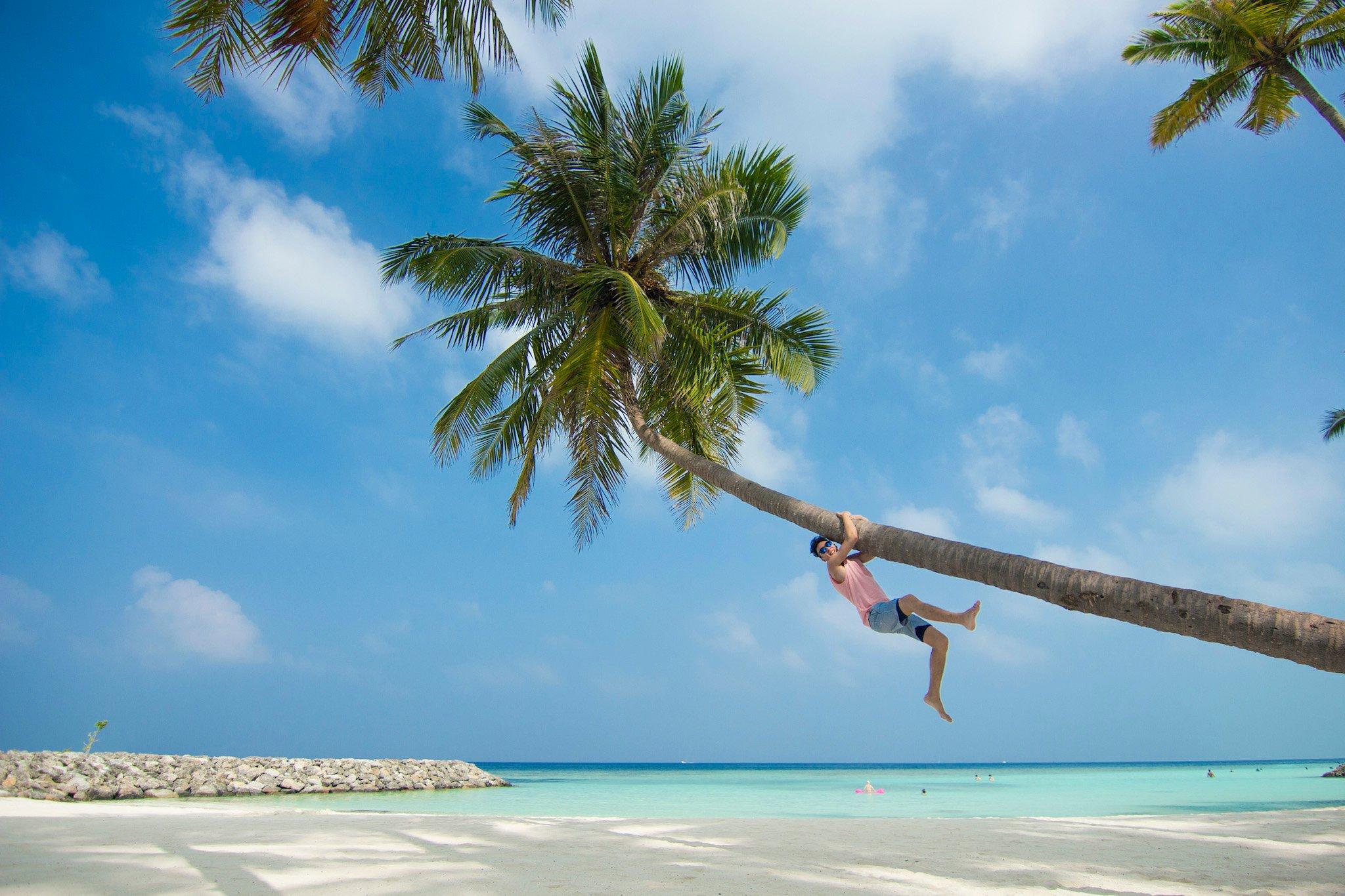 Bikini Beach, Maafushi island, Maldives