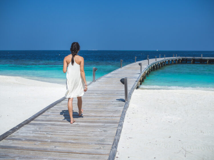 Boardwalk at COMO Cocoa Island, a private resort