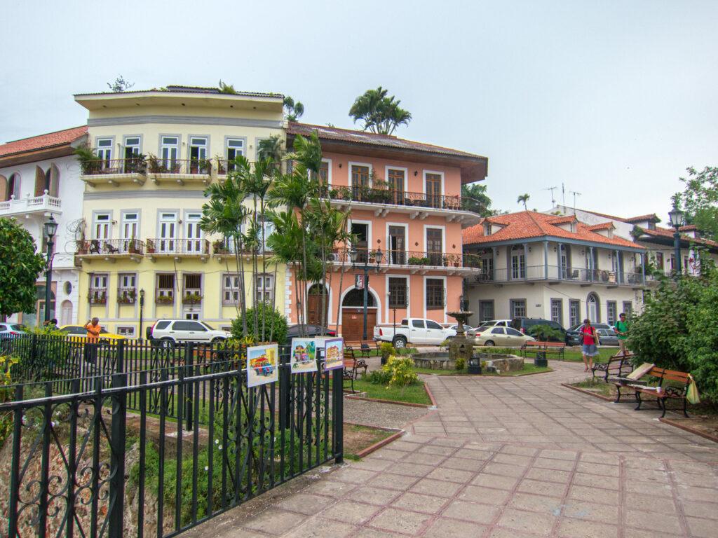 Restored buildings in Casco Viejo