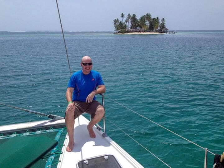 Dave in San Blas Islands, Panama