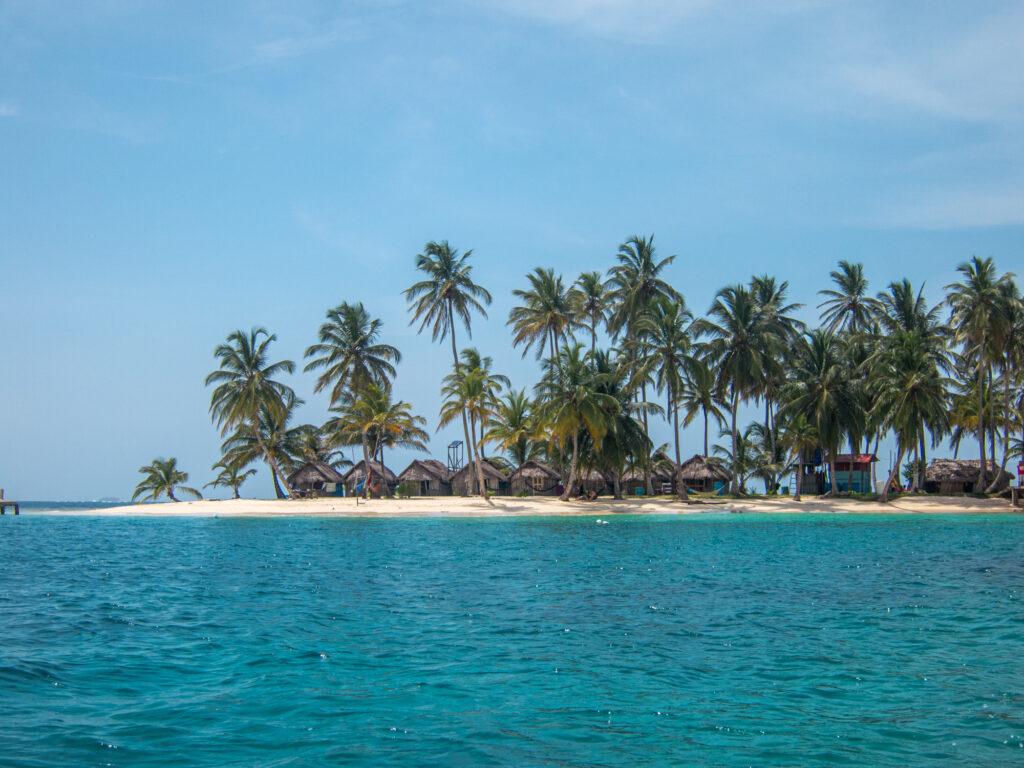 Kuanidup island in San Blas, Panama
