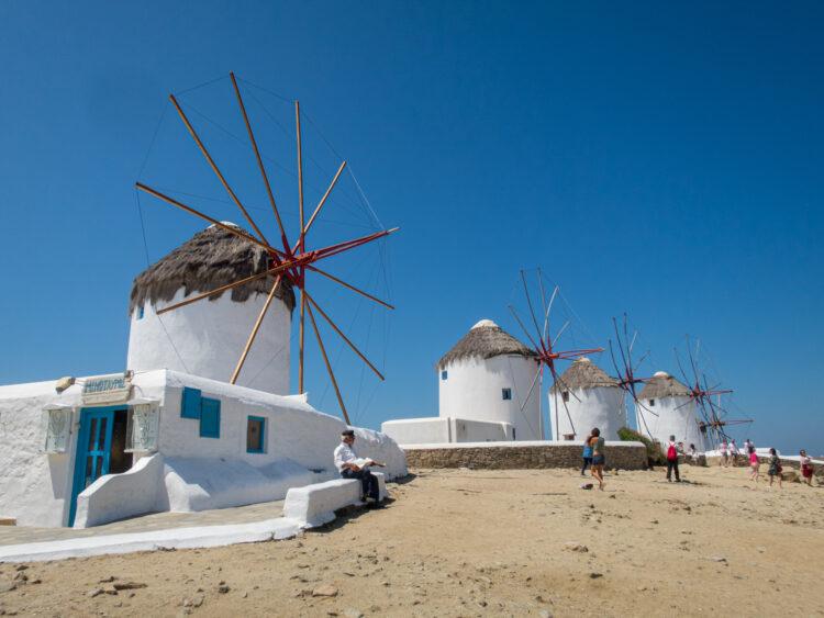 Summer in Mykonos, Greece (photo: Dave Lee)