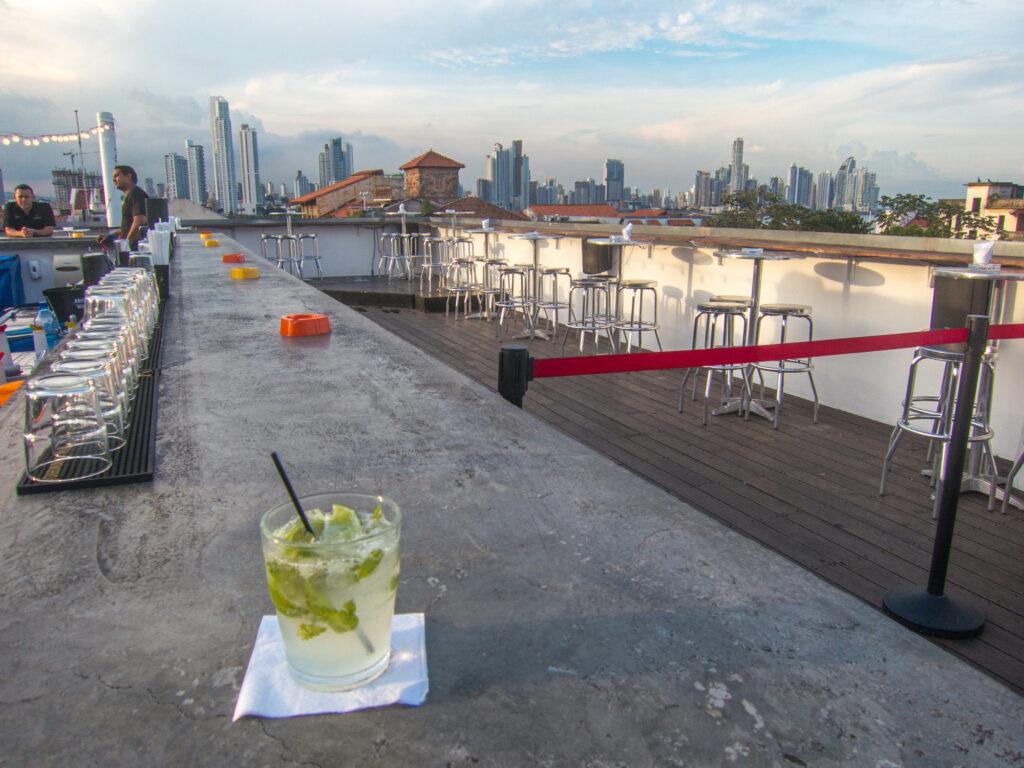 Tantalo rooftop bar in Casco Viejo