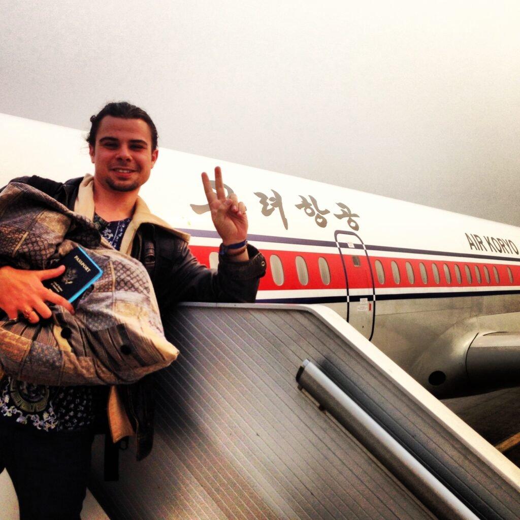 Boarding Air Koryo DPRK