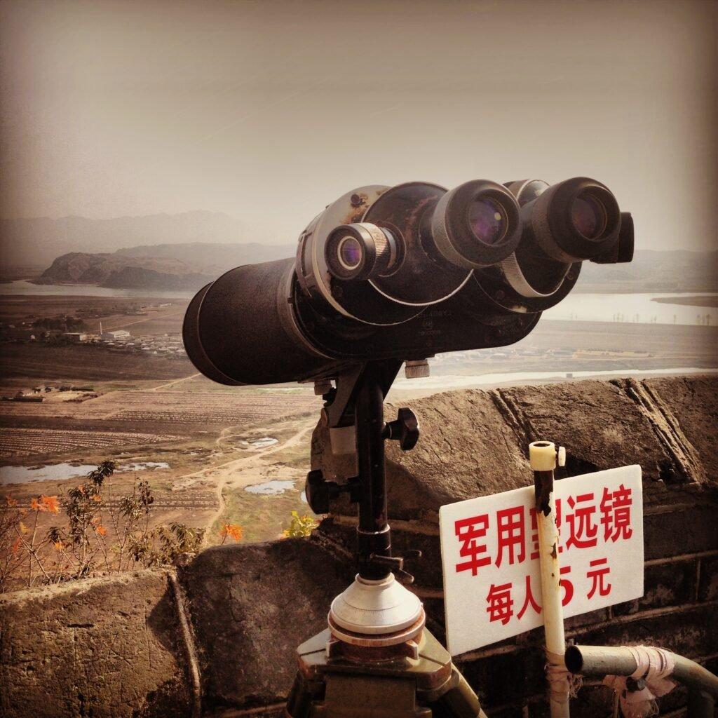 Looking over North Korea