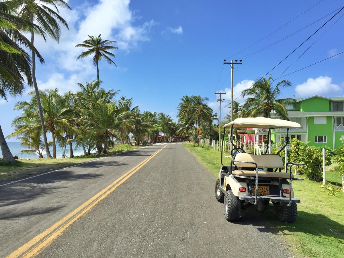 Golf cart rental on San Andres