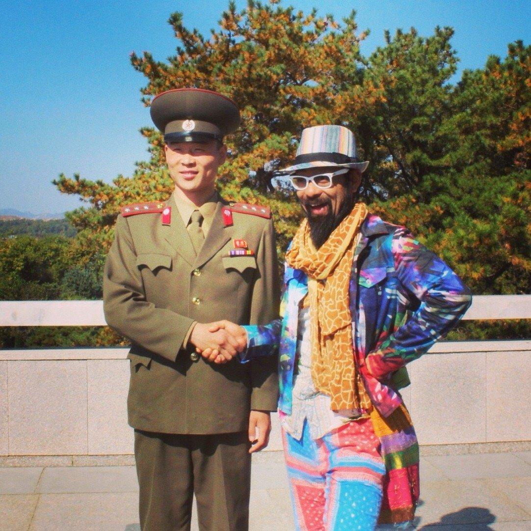 North Korean soldier with Japaneese celebrity