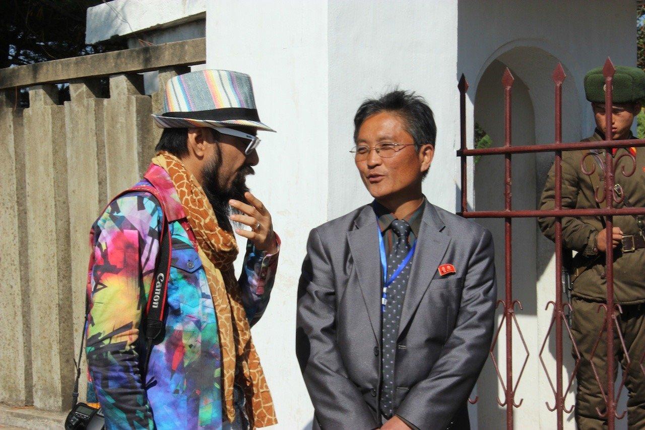 North Korean minder with Japaneese celebrity