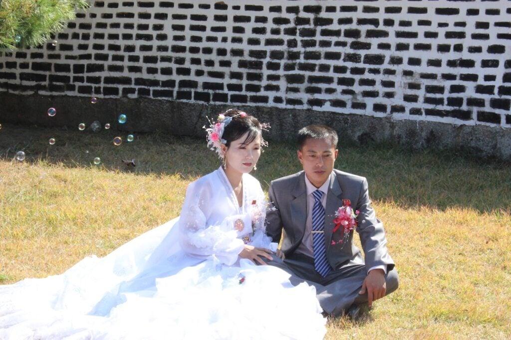 Couple taking Wedding Photos in Kaesong DPRK