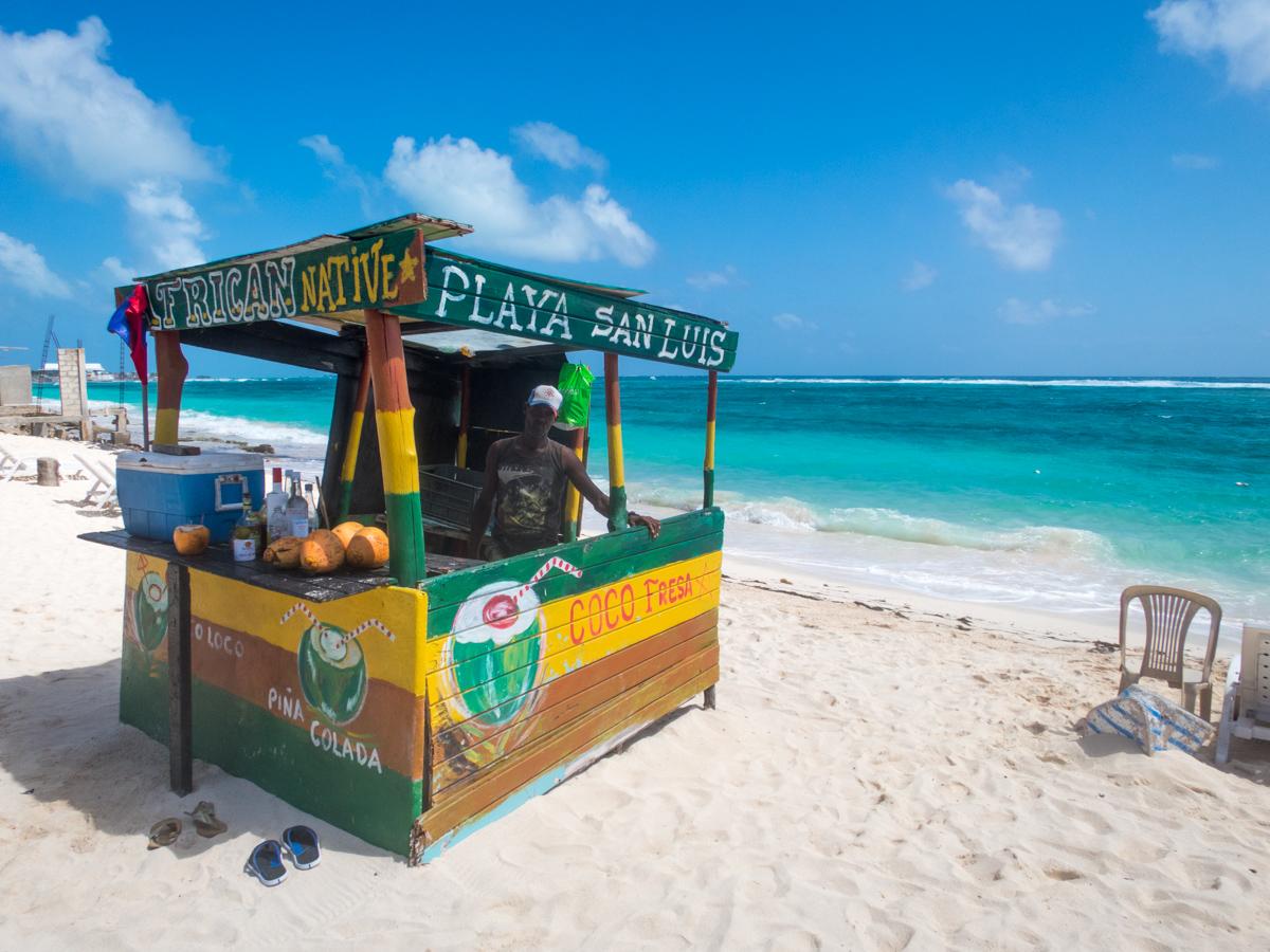 Playa San Luis beach bar