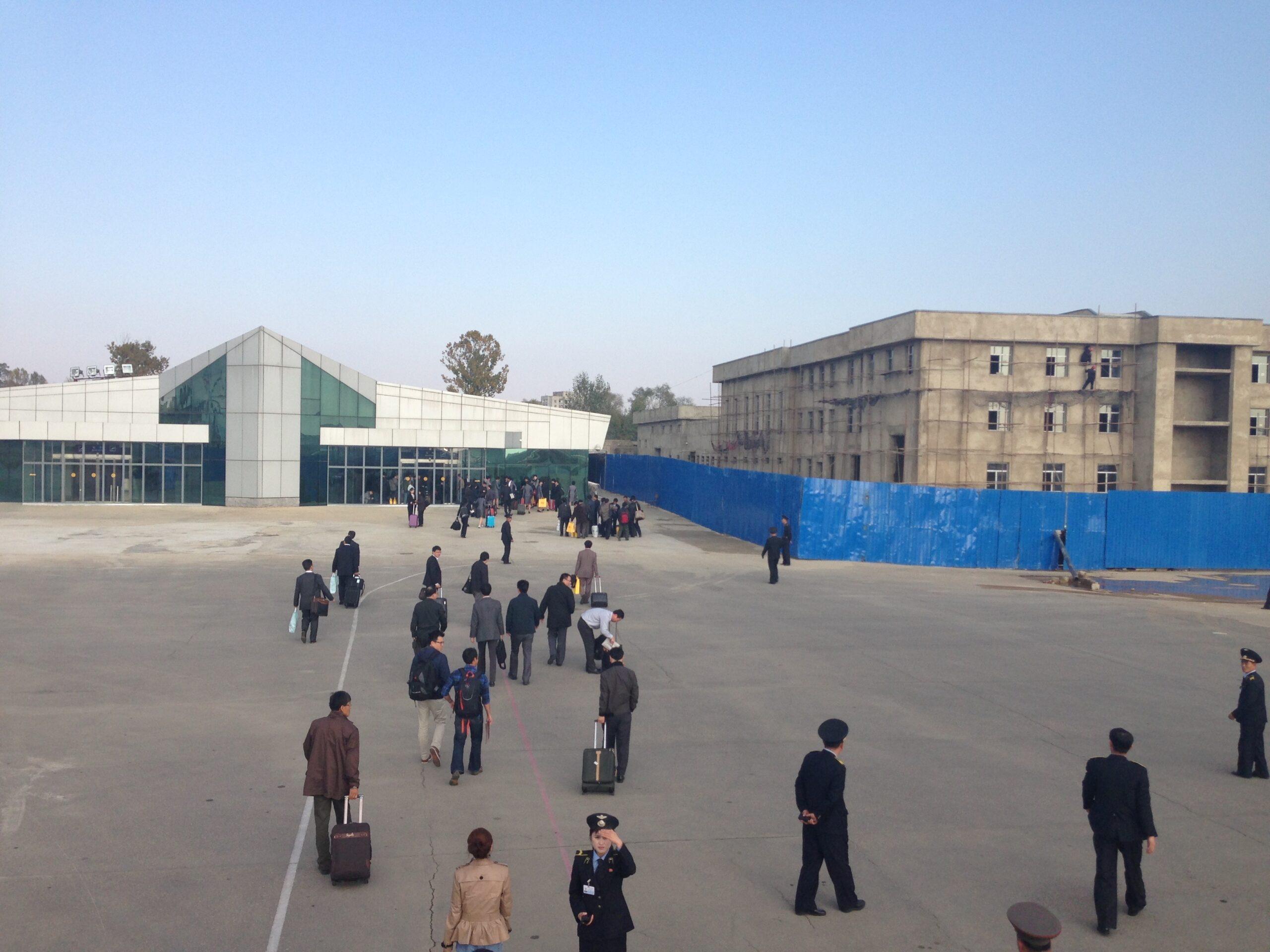 The view upon landing at Pyongyang (2013)