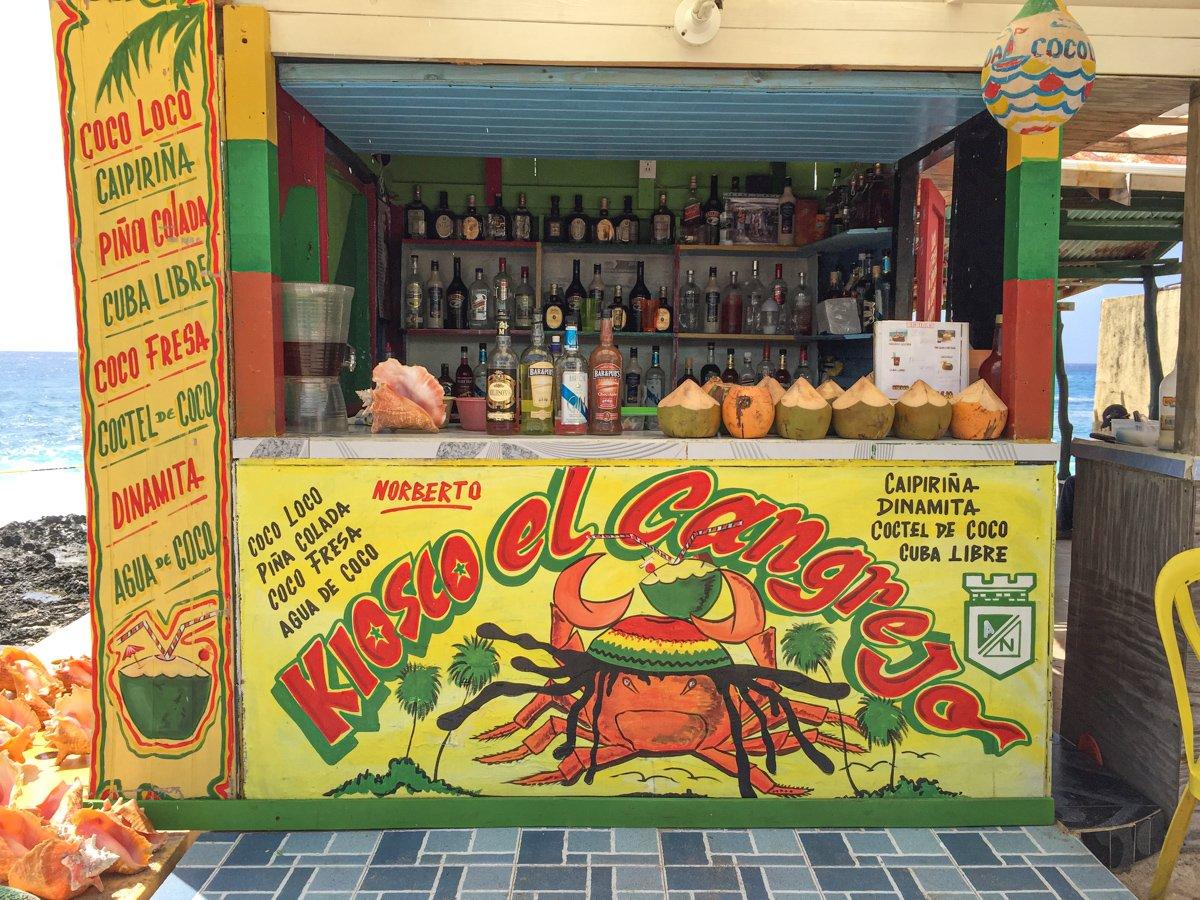 San Andres beach bar