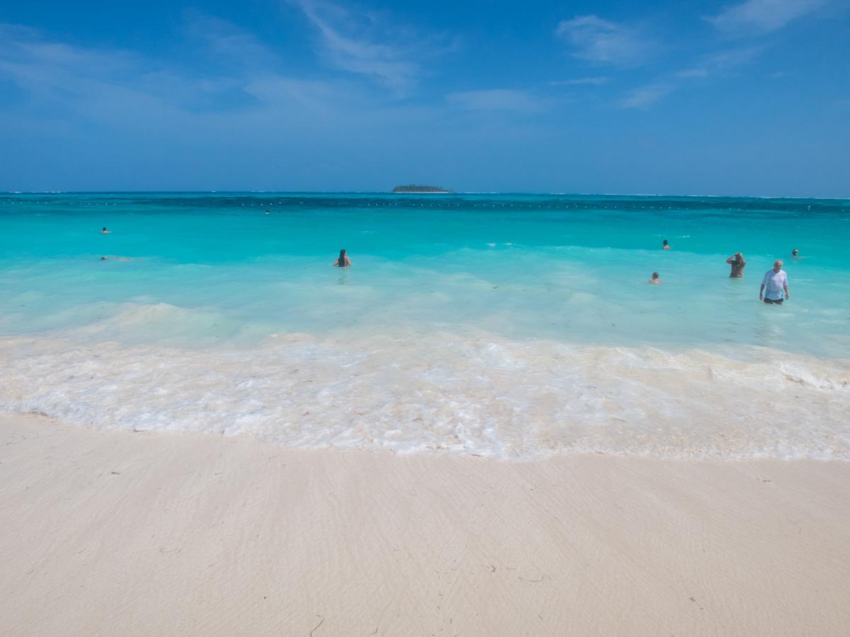 View of Johnny Cay from Spratt Bright beach, San Andres