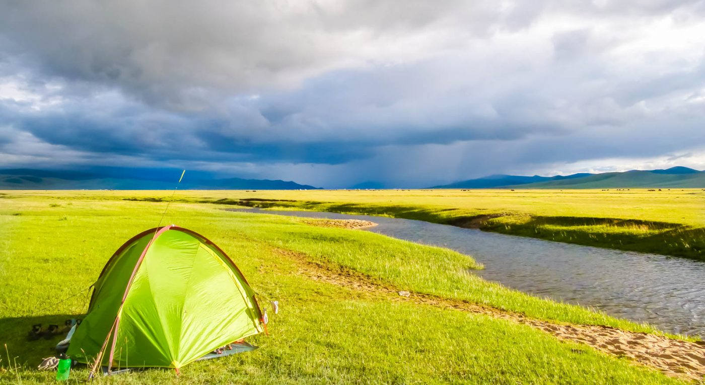 Storm clouds while hiking in Mongolia
