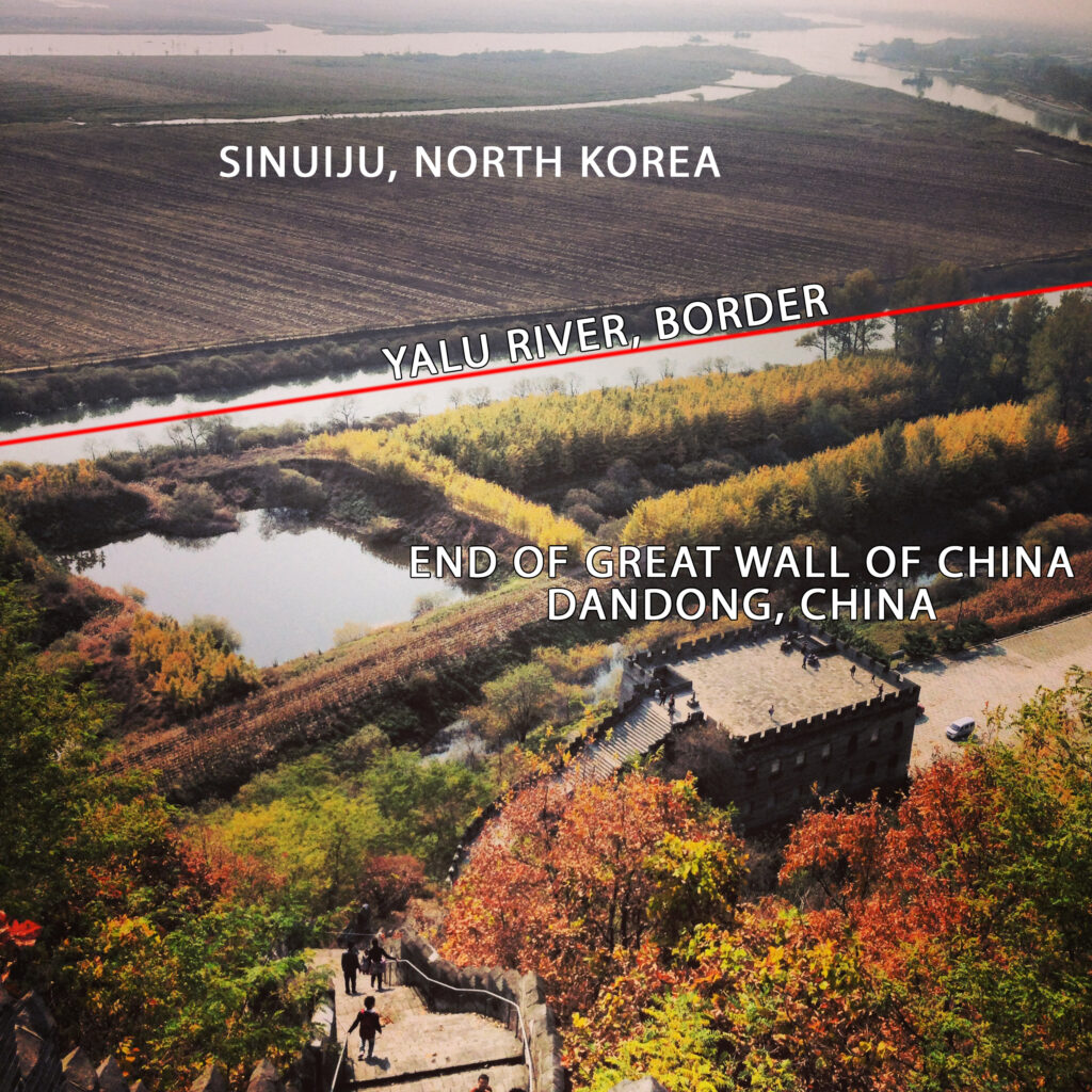 North Korean border with China