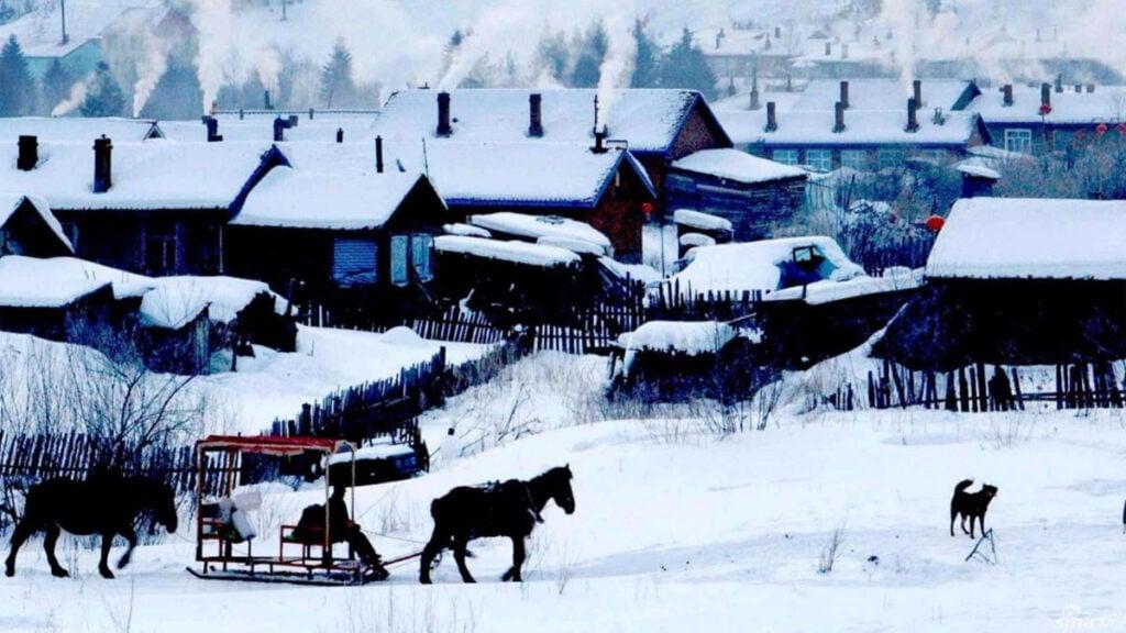 Small town in Heilongjiang, China
