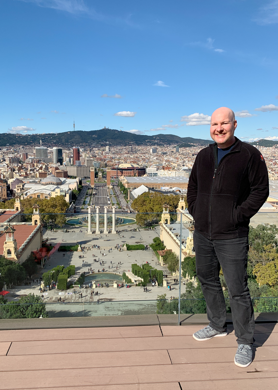 View of Barcelona from Museu Nacional d'Art de Catalunya